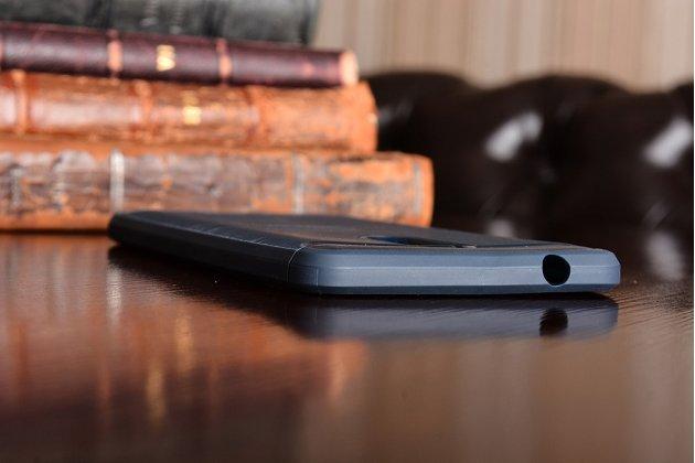 """Задняя панель-крышка из тончайшего мягкого силикона для nokia 8 с матовой отделкой """"под карбон"""" синяя"""