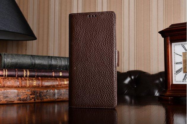 Подлинный чехол с логотипом с застёжкой и мультиподставкой для nokia 8 коричневый