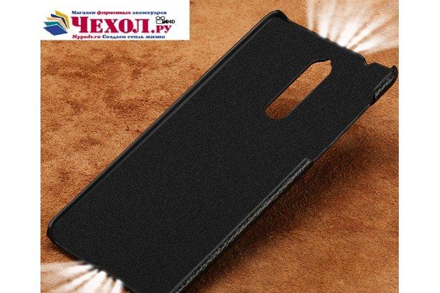 Премиальная элитная крышка-накладка из тончайшего прочного пластика и качественной импортной кожи  для nokia 8  красная
