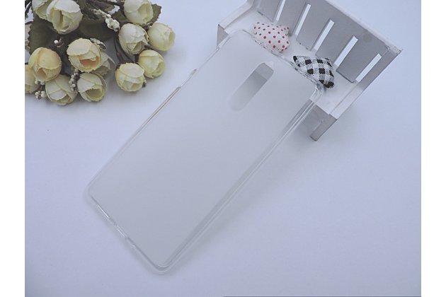 Ультра-тонкая полимерная из мягкого качественного силикона задняя панель-чехол-накладка для nokia 8 белая