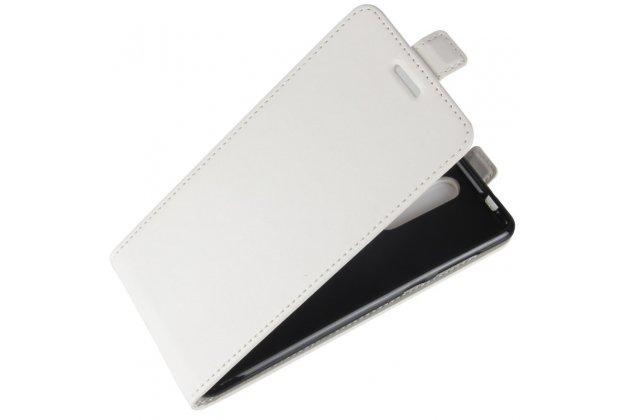 Вертикальный откидной чехол-флип для nokia 8 белый из натуральной кожи prestige