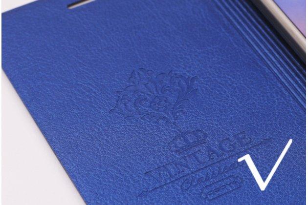 """Чехол-книжка водоотталкивающий с мульти-подставкой на жёсткой металлической основе для oneplus 3t a3010/ oneplus 3 a3000 / a3003""""  синий"""