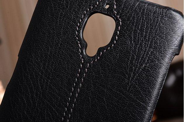 """Премиальная элитная крышка-накладка из тончайшего прочного пластика и качественной импортной кожи для oneplus 3t a3010/ oneplus 3 a3000 / a3003"""" черная"""