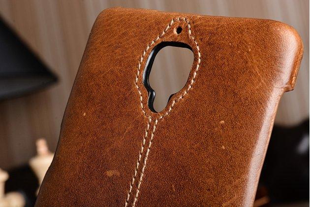 """Премиальная элитная крышка-накладка из тончайшего прочного пластика и качественной импортной кожи для oneplus 3t a3010/ oneplus 3 a3000 / a3003"""" коричневая"""
