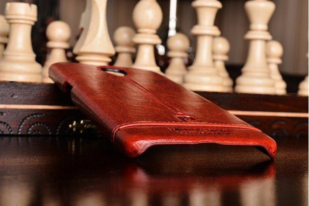 """Премиальная элитная крышка-накладка из тончайшего прочного пластика и качественной импортной кожи для oneplus 3t a3010/ oneplus 3 a3000 / a3003"""" красная"""