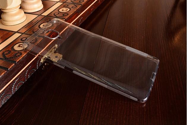 """Ультра-тонкая полимерная из мягкого качественного силикона задняя панель-чехол-накладка для oneplus 3t a3010/ oneplus 3 a3000 / a3003""""  черная с заглушками"""