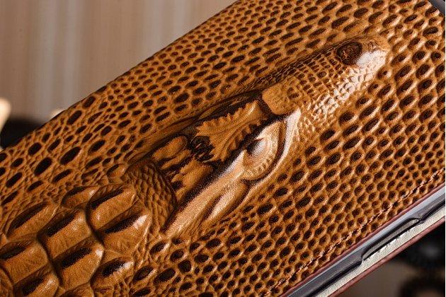 """Роскошный эксклюзивный чехол с объёмным 3d изображением кожи крокодила коричневый для oneplus 3t a3010/ oneplus 3 a3000 / a3003"""" . только в нашем магазине. количество ограничено"""