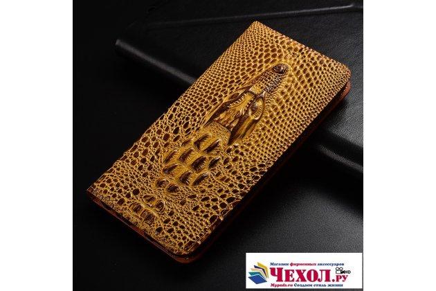 Роскошный эксклюзивный чехол с объёмным 3d изображением кожи крокодила коричневый для oneplus 5t . только в нашем магазине. количество ограничено