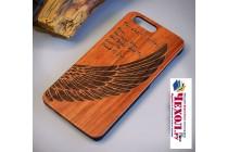 """Деревянная из натурального бамбука задняя панель-крышка-накладка для oneplus 5t """"тематика ангел"""""""