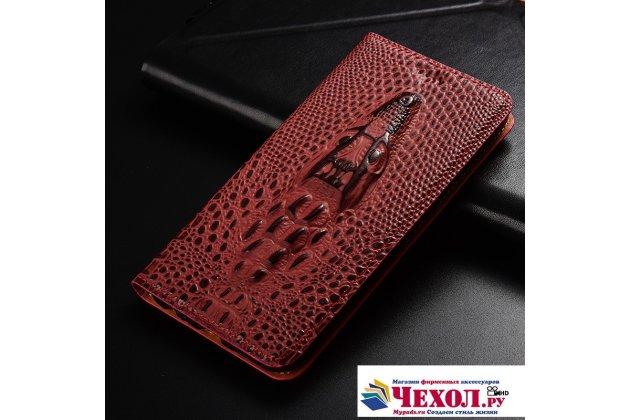 Роскошный эксклюзивный чехол с объёмным 3d изображением кожи крокодила цвет красное вино для oneplus 5t  только в нашем магазине. количество ограничено