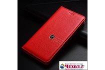 Чехол-книжка из качественной импортной кожи с мульти-подставкой и визитницей для oneplus 5t  красный