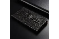 Роскошный эксклюзивный чехол с объёмным 3d изображением кожи крокодила черный для oneplus 5t  только в нашем магазине. количество ограничено