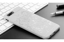 """Роскошная задняя панель-чехол-накладка  из мягкого силикона с безумно красивым расписным 3d рисунком на oneplus 5t """"тематика китайский дракон"""" серая"""