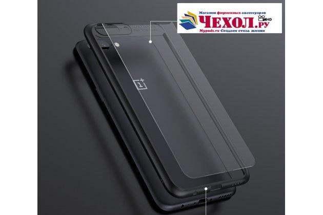Ультра-тонкий силиконовый чехол-бампер для oneplus 5t с закаленным стеклом на заднюю крышку телефона красный
