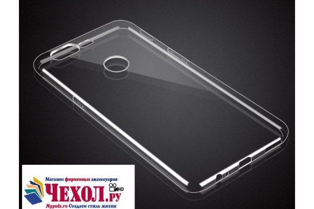 Ультра-тонкая полимерная из мягкого качественного силикона задняя панель-чехол-накладка для oneplus 5t прозрачная