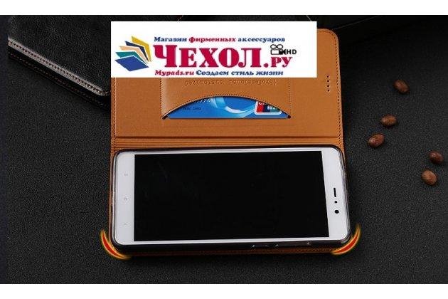 Чехол-книжка из качественной импортной кожи с мульти-подставкой и визитницей для oneplus 5t коричневый