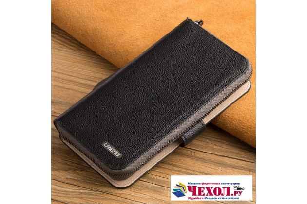 Чехол-портмоне-клатч-кошелек на силиконовой основе из качественной импортной кожи для oneplus 5t черный
