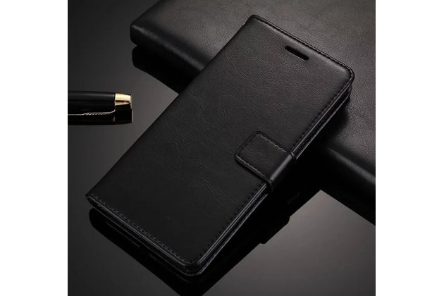Чехол-книжка из качественной импортной кожи с подставкой застёжкой и визитницей для oneplus 5t черный