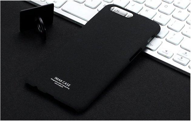 Задняя панель-крышка из прочного пластика с матовым противоскользящим покрытием для oneplus 5t с подставкой в черном цвете