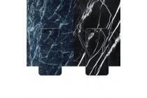 Из тончайшего прочного силикона задняя панель-крышка-накладка с рисунком под мрамор для oneplus 5t  цвет малахит