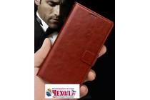 Чехол-книжка из качественной импортной кожи с подставкой застёжкой и визитницей для oneplus 5t коричневый