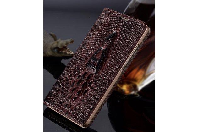 Роскошная эксклюзивная чехол-книжка с объёмным 3d изображением головы крокодила темно-красная для sony xperia e5. только в нашем магазине. количество ограничено
