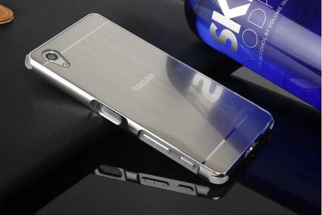 Металлическая задняя панель-крышка-накладка из тончайшего облегченного авиационного алюминия для sony xperia x performance/ x performance dual серебристая