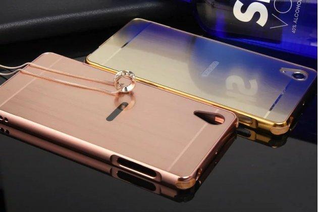 Металлическая задняя панель-крышка-накладка из тончайшего облегченного авиационного алюминия для sony xperia x performance/ x performance dual розовое золото
