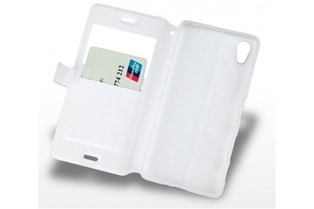 """Чехол-книжка с подставкой застёжкой и визитницей для sony xperia x / x dual 5.0"""" (f5121 / f5122) с изображением """"сказочный олень"""""""