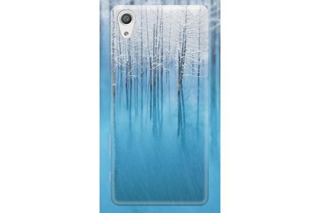 """Задняя панель-крышка-накладка из тончайшего и прочного пластика для sony xperia x / x dual 5.0"""" (f5121 / f5122) с изображением """"деревья в снегу"""""""