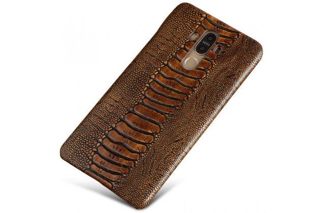 """Элегантная экзотическая задняя панель-крышка с фактурной отделкой натуральной кожи крокодила кофейного цвета для sony xperia x / x dual 5.0"""" (f5121 / f5122). только в нашем магазине. количество ограничено."""