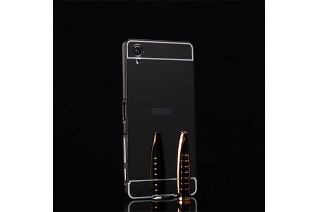 """Металлическая задняя панель-крышка-накладка из тончайшего облегченного авиационного алюминия для sony xperia x / x dual 5.0"""" (f5121 / f5122) черная"""