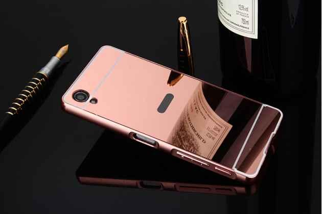 """Металлическая задняя панель-крышка-накладка из тончайшего облегченного авиационного алюминия для sony xperia x / x dual 5.0"""" (f5121 / f5122) розовое золото"""