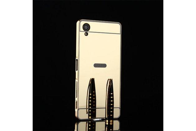 """Металлическая задняя панель-крышка-накладка из тончайшего облегченного авиационного алюминия для sony xperia x / x dual 5.0"""" (f5121 / f5122) золотая"""