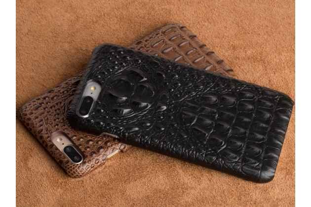 """Роскошная элитная премиальная задняя панель-крышка на пластиковой основе обтянутая лаковой кожей крокодила  для sony xperia xa / xa dual 5.0"""" (f3113/ f3112 / f3115 /e6533) черная"""