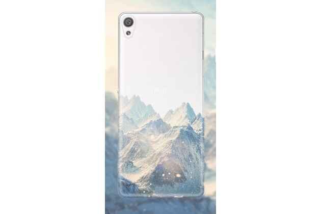 """Задняя панель-крышка-накладка из тончайшего и прочного пластика для sony xperia xa / xa dual 5.0"""" (f3113/ f3112 / f3115 /e6533) с изображением """"горы"""""""