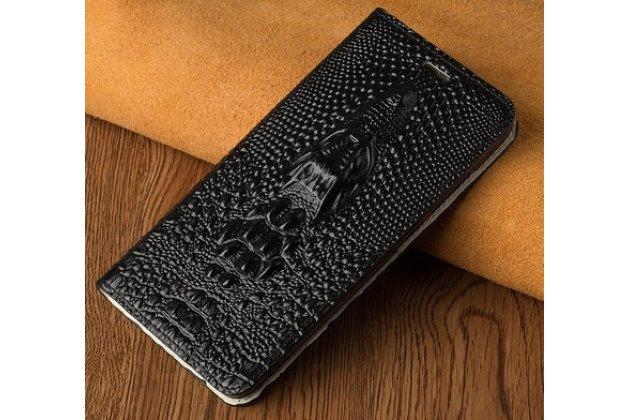"""Роскошный эксклюзивный чехол с объёмным 3d изображением рельефа кожи крокодила черный для sony xperia xa / xa dual 5.0"""" (f3113/ f3112 / f3115 /e6533). только в нашем магазине. количество ограничено"""