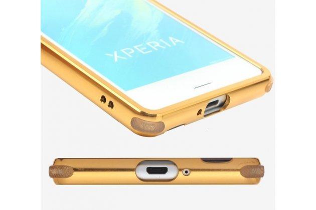 """Металлическая задняя панель-крышка-накладка из тончайшего облегченного авиационного алюминия для sony xperia xa / xa dual 5.0"""" (f3113/ f3112 / f3115 /e6533) золотая"""