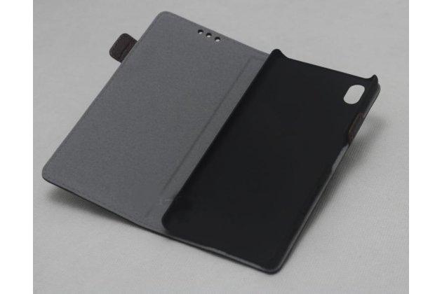 """Чехол-книжка из качественной импортной кожи с подставкой и застёжкой для sony xperia xa / xa dual 5.0"""" (f3113/ f3112 / f3115 /e6533) бежевый"""