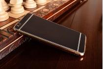 Премиальная элитная крышка-накладка на xiaomi mi 5c черная из качественного силикона с дизайном под кожу