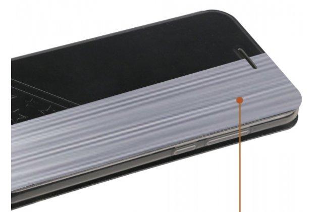 Чехол-книжка водоотталкивающий с мульти-подставкой на жёсткой металлической основе для xiaomi mi 5x / xiaomi mi a1 черный