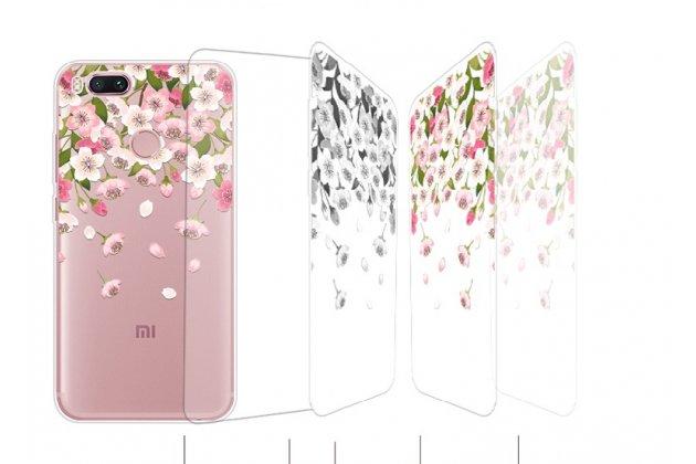Роскошная задняя панель-чехол-накладка  из мягкого силикона с безумно красивым расписным 3d рисунком на xiaomi mi 5x / xiaomi mi a1 тематика цветок вишни