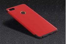 Задняя панель-крышка-накладка из тончайшего и прочного пластика для xiaomi mi 5x / xiaomi mi a1 красно-черная