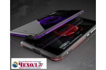 Ультра-тонкий чехол-бампер для xiaomi mi 5x / xiaomi mi a1 черный с фиолетовой вставкой металлический