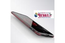 Ультра-тонкий чехол-бампер для xiaomi mi 5x / xiaomi mi a1 черный с красной вставкой металлический
