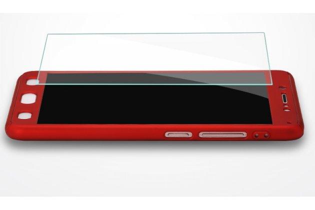 Чехол-бокс-корпус-панель в комплекте с задней и передней крышкой из тончайшего и прочного пластика для xiaomi mi 6 красный