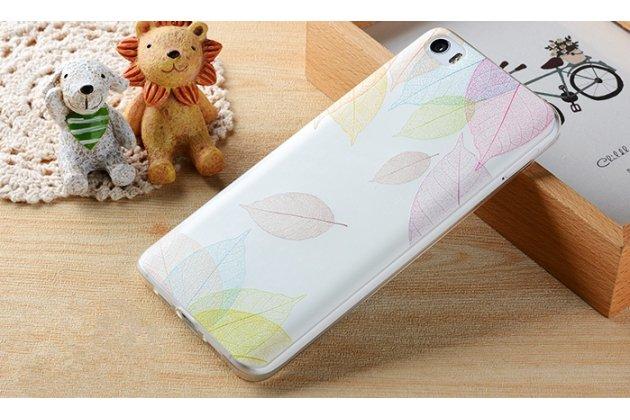 """Роскошная задняя панель-чехол-накладка из мягкого силикона с объемным  3d изображением  на xiaomi mi 6 с безумно красивым рисунком """"листопад"""""""