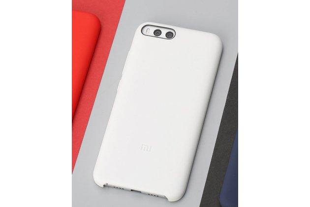 Ультра-тонкая полимерная из мягкого качественного силикона задняя панель-чехол-накладка для xiaomi mi 6 белая