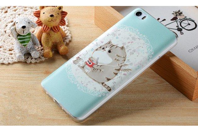 """Роскошная задняя панель-чехол-накладка из мягкого силикона с объемным  3d изображением  на xiaomi mi 6 с безумно красивым рисунком """"котик"""""""