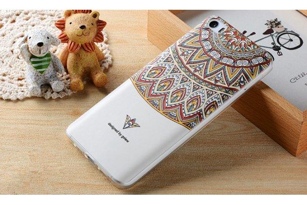 """Роскошная задняя панель-чехол-накладка из мягкого силикона с объемным  3d изображением  на xiaomi mi 6 с безумно красивым рисунком """"узоры"""""""